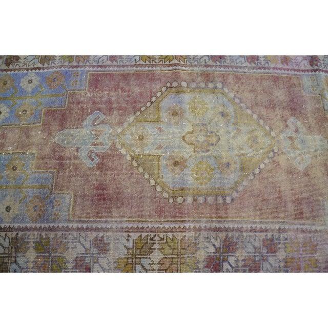 """Oushak Handmade Floor Carpet -- 3'7"""" x 6'7"""" For Sale - Image 5 of 6"""