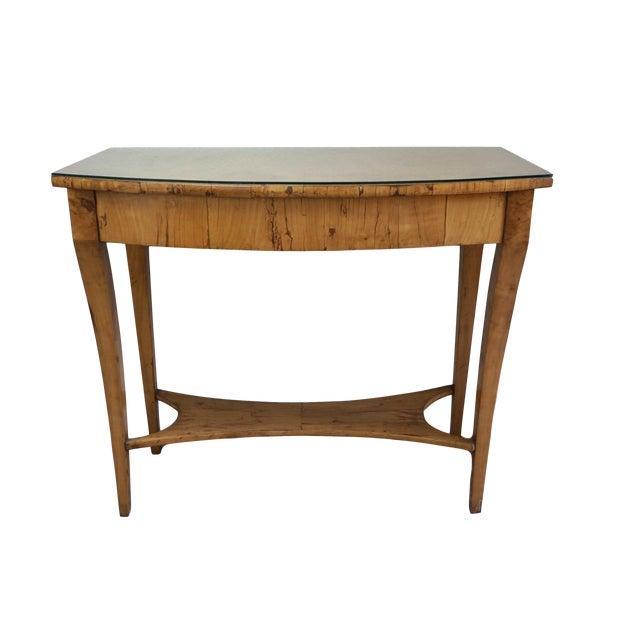 19th Century Austrian Biedermeier Birch Antique Pier Table For Sale