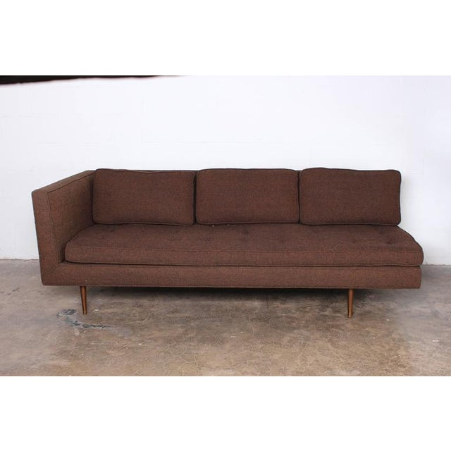 Mid-Century Modern Sofa/Chaise by Edward Wormley for Dunbar For Sale - Image 3 of 7