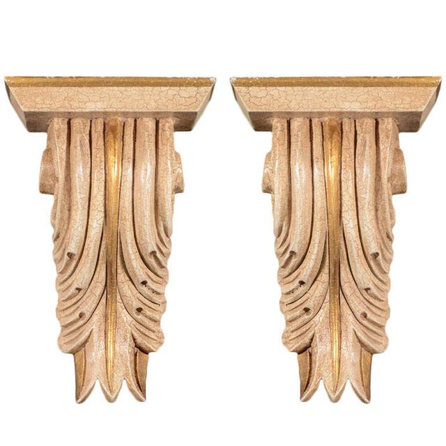 Pair of Architectural Baroque Style Corbels with Hand-Carved Design For Sale - Image 11 of 11