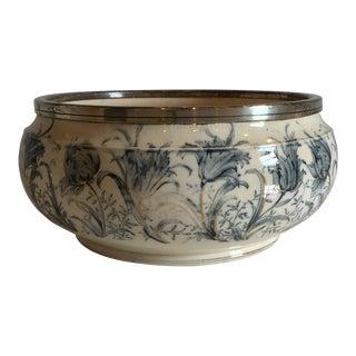 1940s Vintage Glazed Earthenware Bowl For Sale