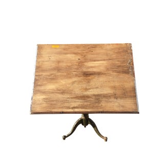 19th Century Industrial Drafting Table Desk For Sale