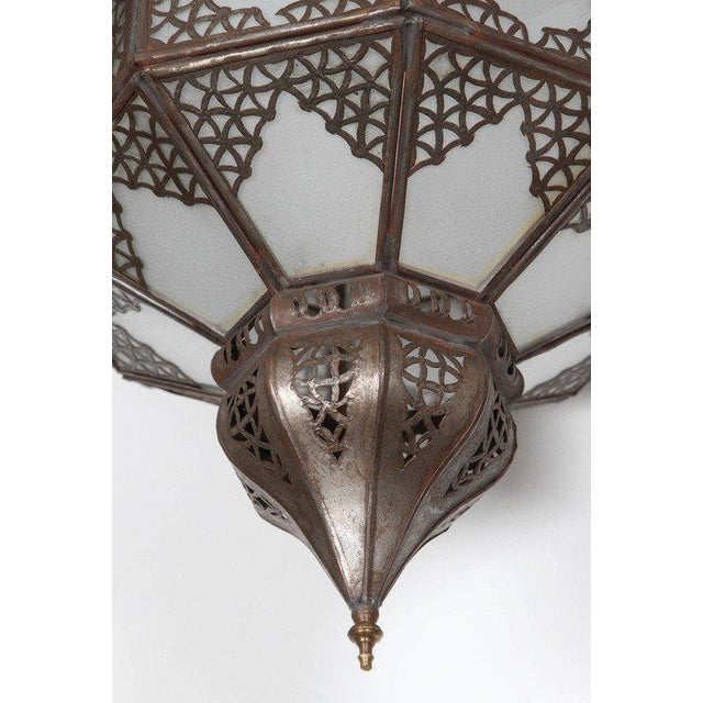 Moroccan Artist Moroccan Moorish Star Shape Frosted Glass Light Shade For Sale - Image 4 of 10