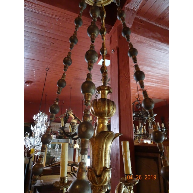 18th Century Venetian Gilt Wood Chandelier For Sale - Image 9 of 13