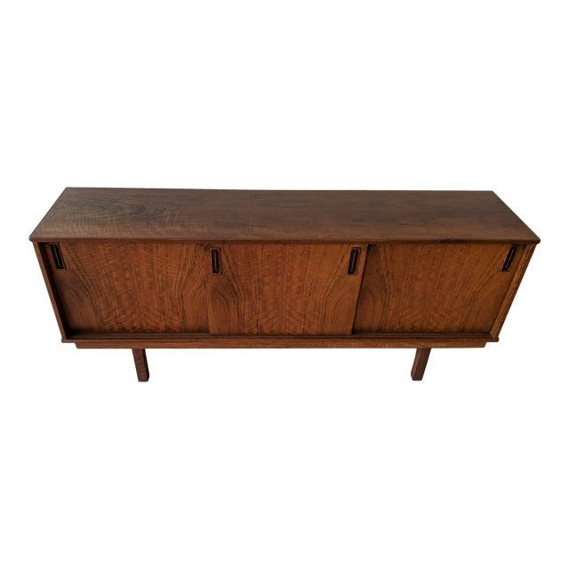 1960's Dyrlund Teak 3-Door Credenza/Sideboard For Sale