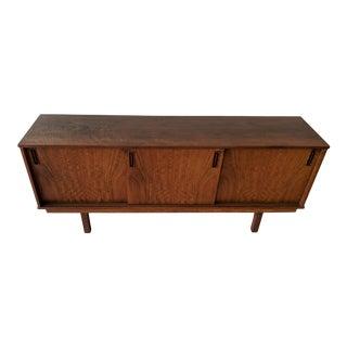 1960's Dyrlund Walnut 3-Door Credenza/Sideboard For Sale