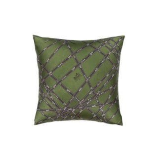 """Bolduc Ribbon"" Hermès Silk Scarf Pillow For Sale"