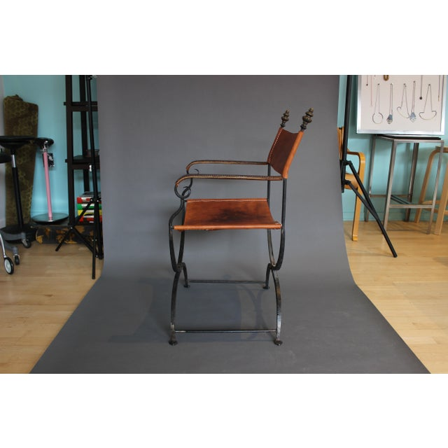 Italian 1950s Vintage Italian Renaissance Savonarola Chair For Sale - Image 3 of 13