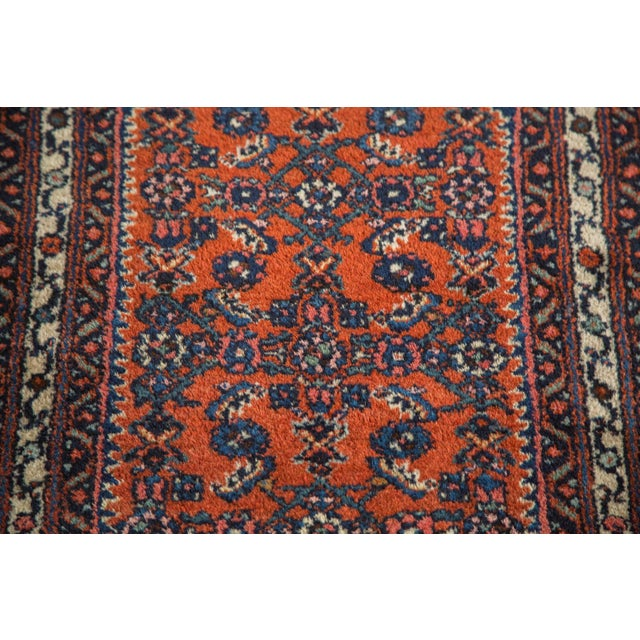 "Vintage Persian Engelas Rug Mat - 2' X 2'6"" For Sale In New York - Image 6 of 7"