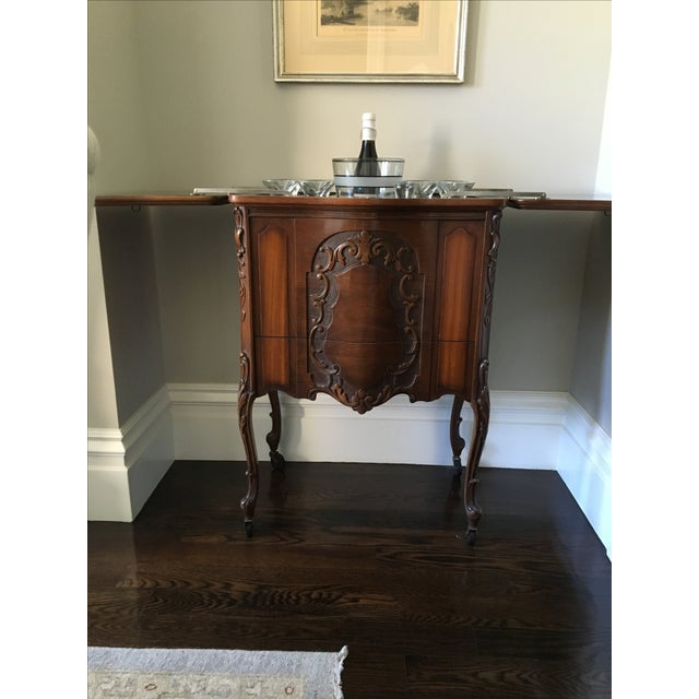 American Art Deco Walnut Bar/Side Cabinet - Image 4 of 6