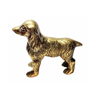 Vintage Brass Cocker Spaniel Dog For Sale