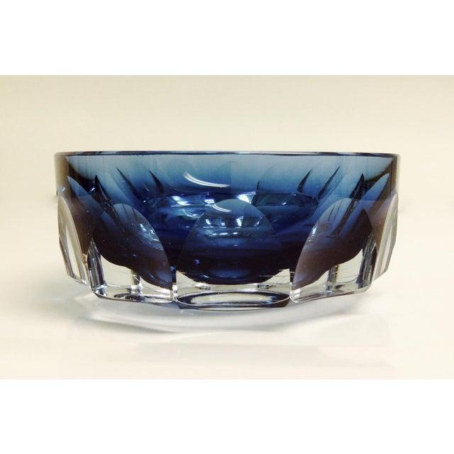 Rare English Wedgwood Crystal Faceted Indigo Blue Bowl Chairish
