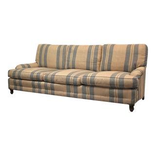 Ralph Lauren Linen English Roll Arm Sofa For Sale