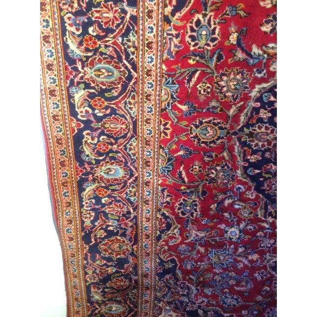 Vintage Oriental Kashan Hand Made Rug - 6′6″ × 9′8″ - Image 7 of 7