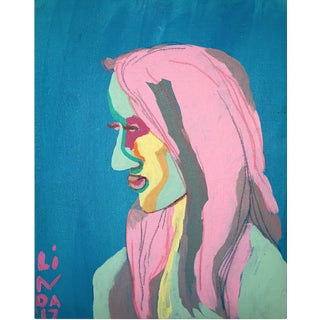 "Contemporary Abstract Portrait Painting ""She's Got All-New Everything, No. 2"" For Sale"