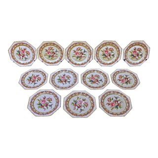 """Octagonal Rosenthal """"Vienna""""Luncheon Plates - Set of 12 For Sale"""