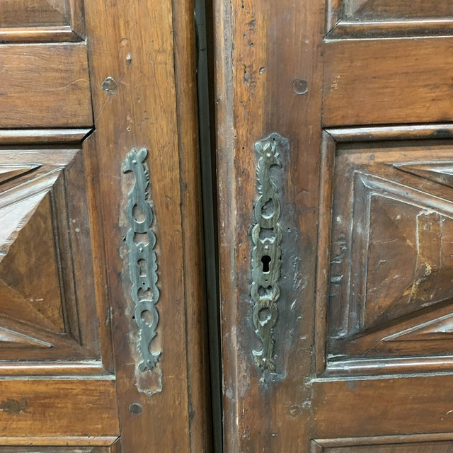 Brown Late 18th C Antique French Oak Armoire Doors - a Pair For Sale - Image 8 of 13