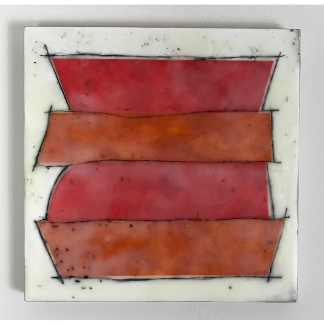 """Abstract Gina Cochran """"Road Trip"""" Encaustic Collages - 16 Pieces For Sale - Image 3 of 13"""