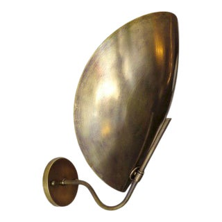 'Beetle' Brass Wall Lights For Sale
