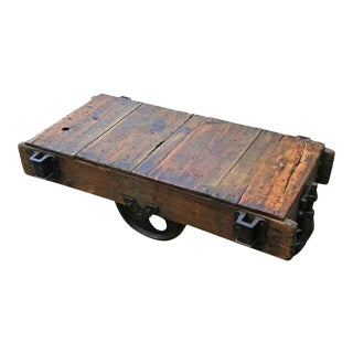 Vintage Factory Cart Coffee Table For Sale