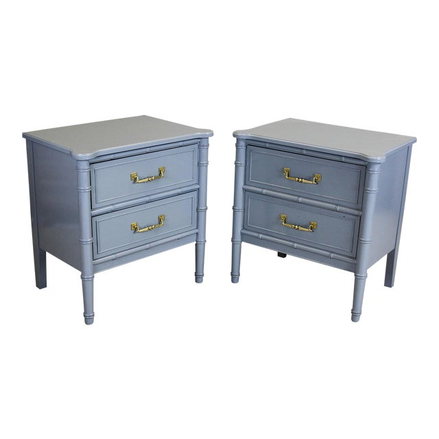 Vintage Palm Beach Style Nightstands - A Pair - Image 1 of 11