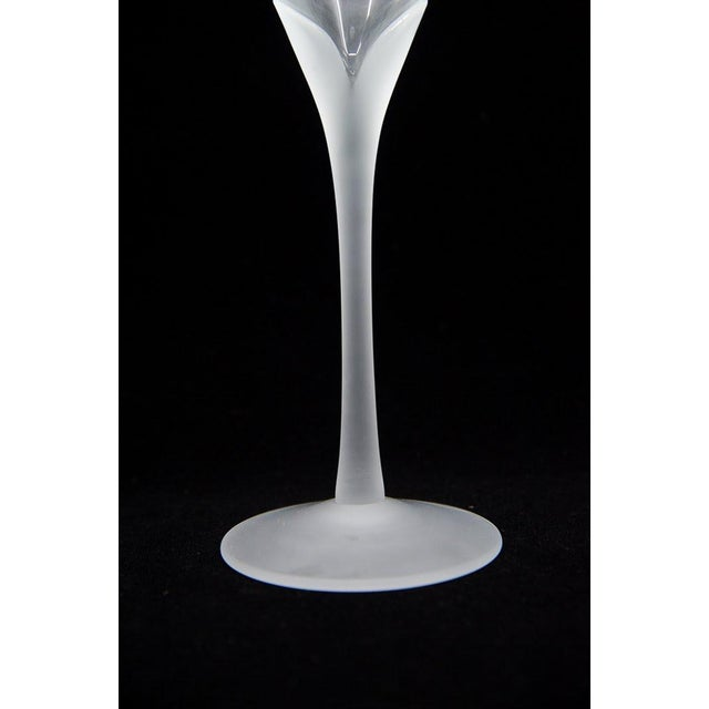 "Crystal Vintage Mikasa ""Alexandra"" Crystal Tulip Champagne Glasses - Set of 12 For Sale - Image 7 of 8"
