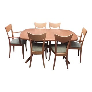 Italian A. Sibau Dining Room Set - 7 Pieces For Sale