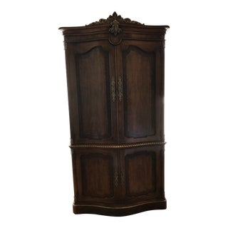 1990s Vintage Henredon Walnut Burl Armoire For Sale