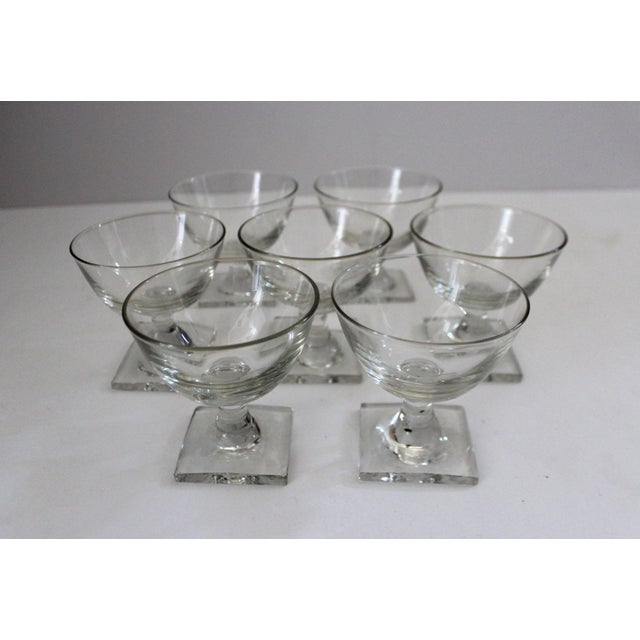Contemporary Square Base Champagne Glasses - Set of 7 For Sale In San Francisco - Image 6 of 6