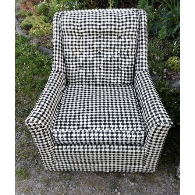 Kroehler Mid-Century Houndstooth Chairs - A Pair For Sale - Image 6 of 11