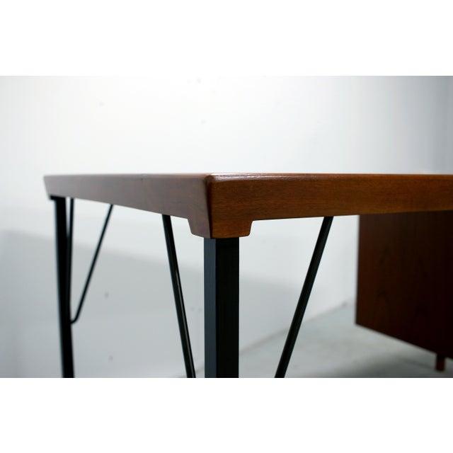 Danish Modern Vintage Danish Modern Arne Vodder for Jon Stuart Teakwood Writing Desk For Sale - Image 3 of 12