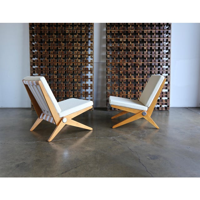 Scissor Lounge Chairs by Pierre Jeanneret for Knoll International - a Pair For Sale - Image 12 of 12