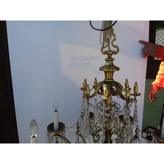 Heavy Brass and Crystal Chandelier With Eight Lights Preview