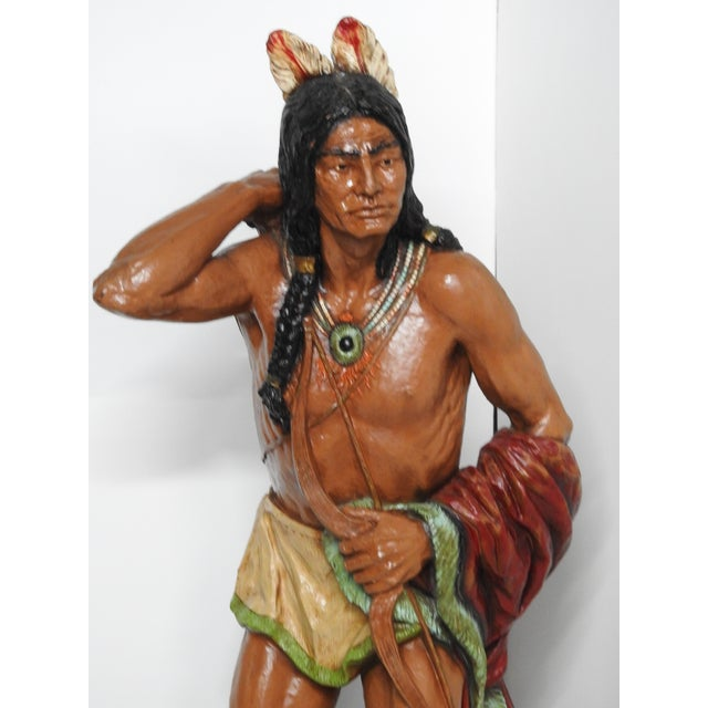 Fiberglass Cigar Store Indian For Sale - Image 4 of 7