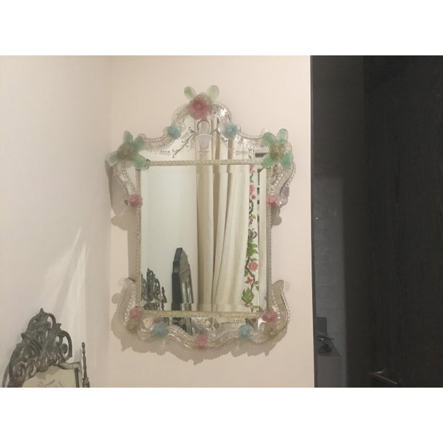 Italian Murano Etched Mirror For Sale In Los Angeles - Image 6 of 6