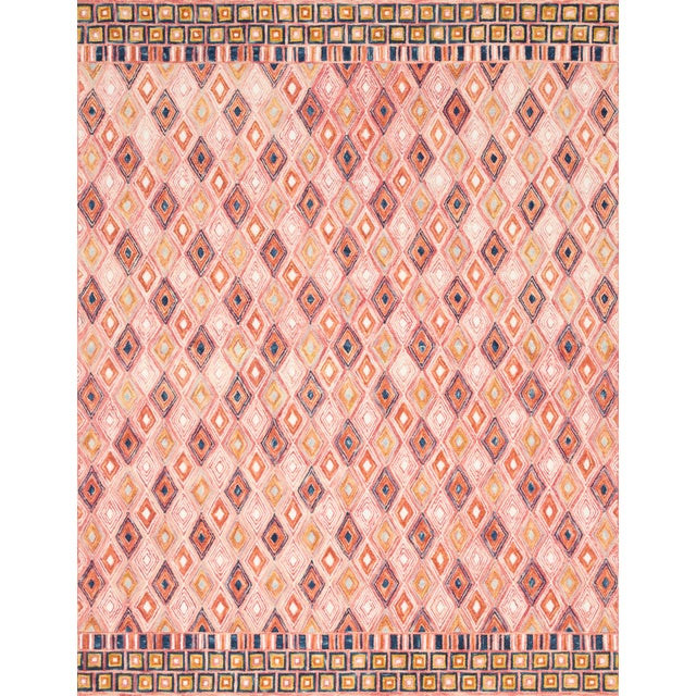 """Contemporary Loloi Rugs Priti Rug, Pink / Sunset - 7'9""""x7'9"""" For Sale - Image 3 of 3"""