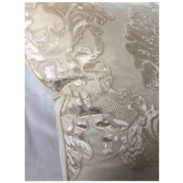 Boho Chic New! Stark Scalamandre Panne Velvet Sheer Overlay Pillow ~ Down Feather Insert Included. For Sale - Image 3 of 5