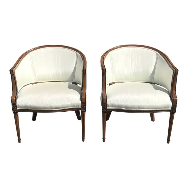 Accent Chairs Sold In Pairs.1910s Vintage French Louis Xvi Accent Chairs A Pair
