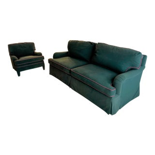 1970s Vintage Custom Couch & Chair For Sale