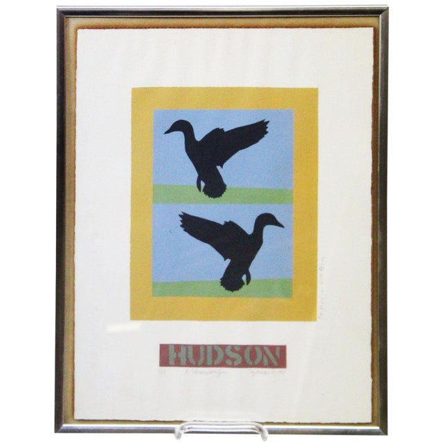 Abstract Flying Ducks Print For Sale