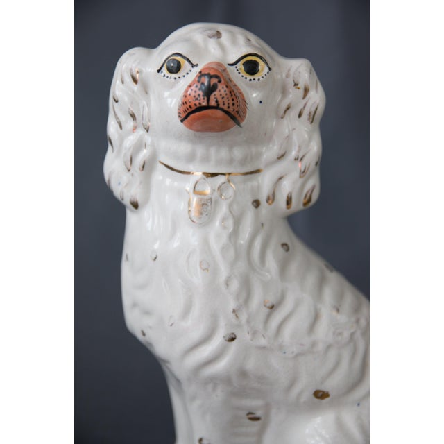 Mid 18th Century Large Antique English Staffordshire Spaniel Dogs - a Pair For Sale - Image 5 of 10