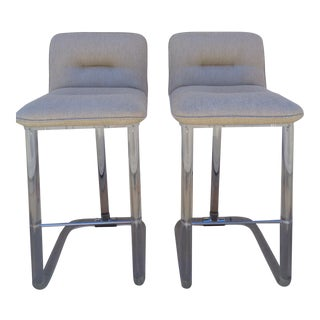 Leon Frost Lucite Swivel Barstools C. 1970s -- A Pair