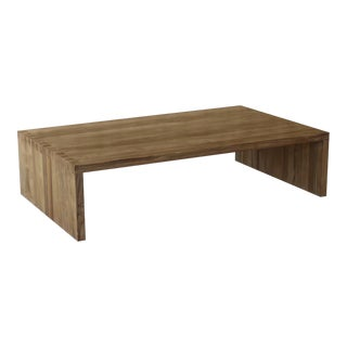 Indoor/Outdoor Teak Dovetail Coffee Table For Sale