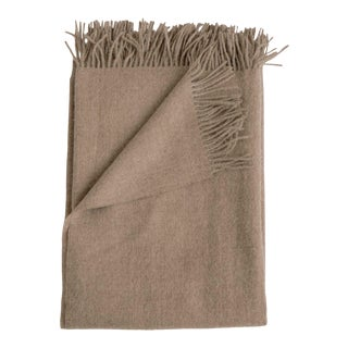 Alpaca Throw in Fawn For Sale