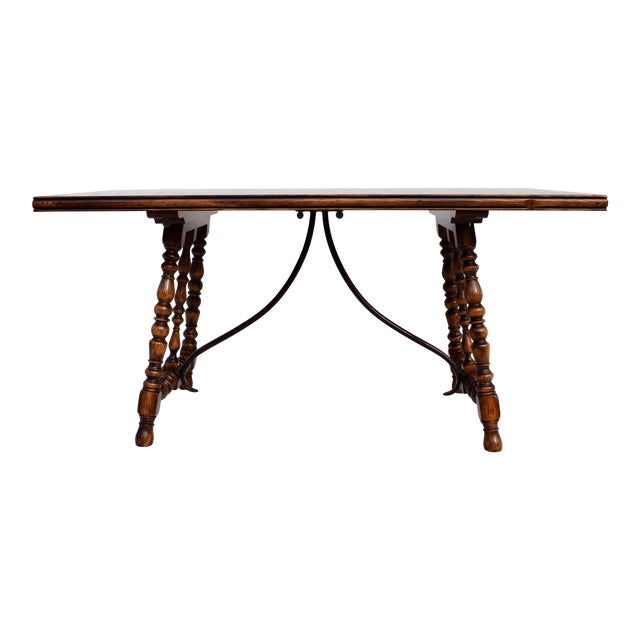 Spanish Colonial Style Dining Table by ABC Carpet & Home Center For Sale