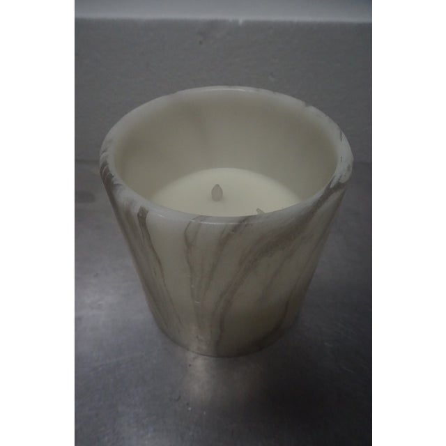 Electornic Faux Marble Candles - A Pair - Image 4 of 5