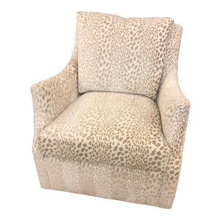 Highland House Upholstery Sullivan Swivel Chair For Sale