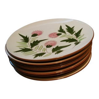 "Stangl ""Thistle"" Large Dinner Plates - Set of 7"