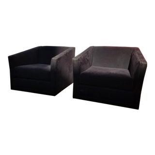 Harvey Probber Style Swivel Chairs / Pair