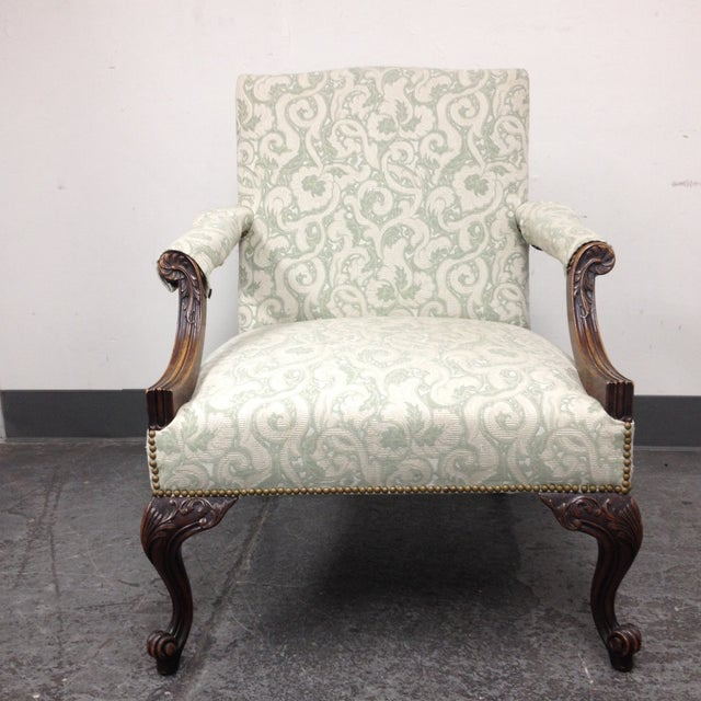 Mahogany Armchair With Nail Heads - Image 2 of 8